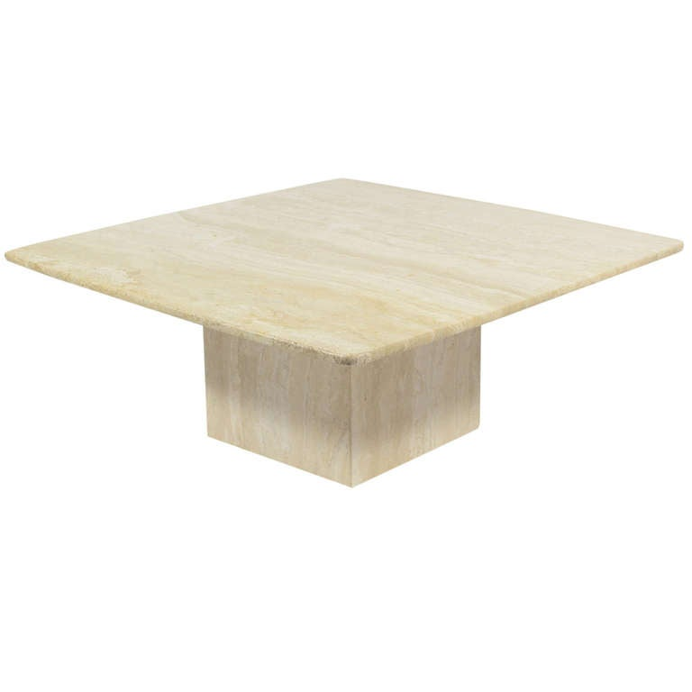 Italian Travertine Coffee Table By Ello At 1stdibs