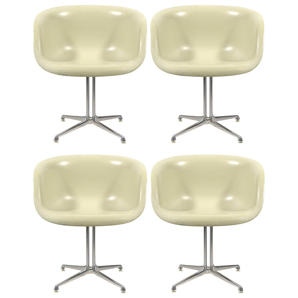Set of Four Eames and Girard Armchairs for La Fonda by Herman Miller