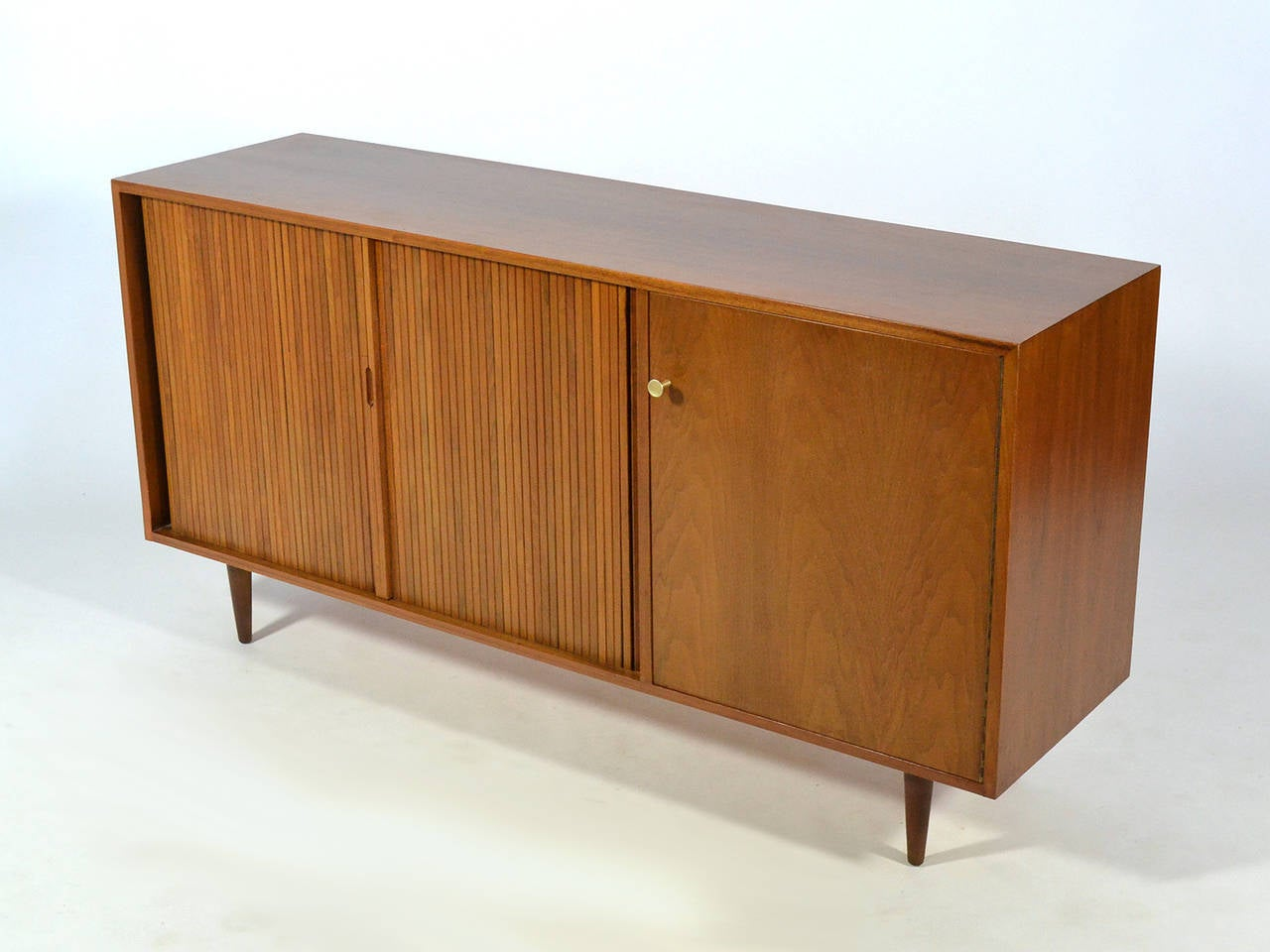 Metal Milo Baughman Credenza by Glenn of California For Sale