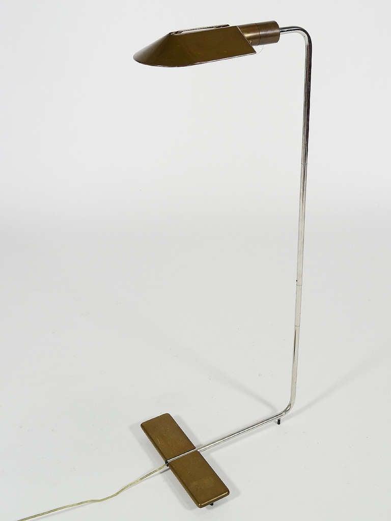 floor reading lamp by cedric hartman at 1stdibs. Black Bedroom Furniture Sets. Home Design Ideas