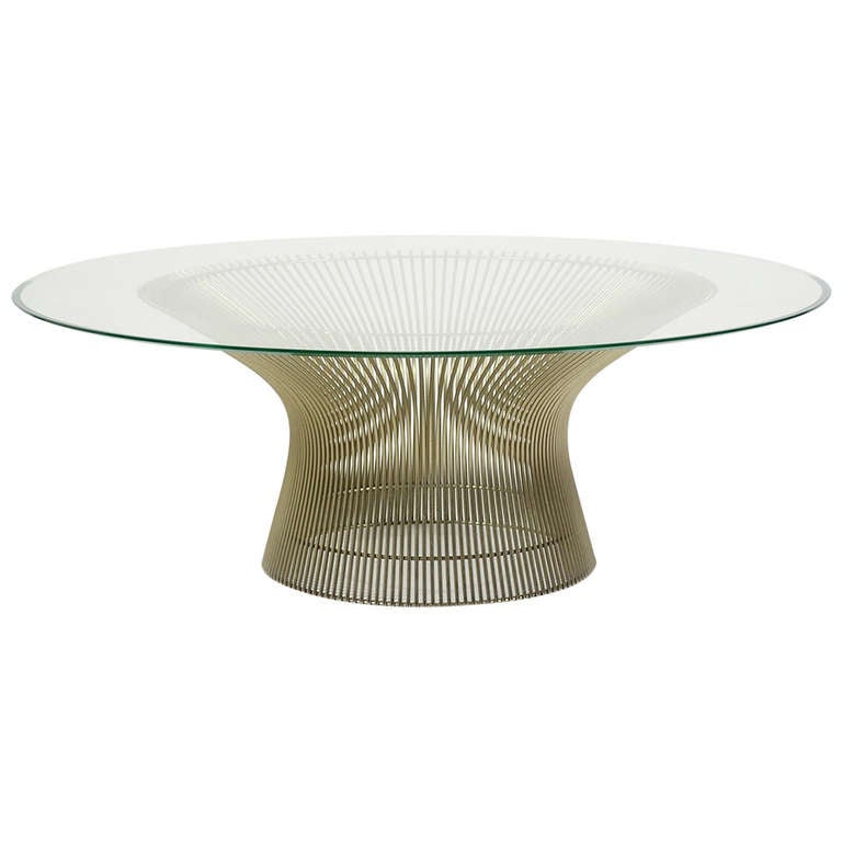 Warren platner coffee table by knoll at 1stdibs for Table warren platner