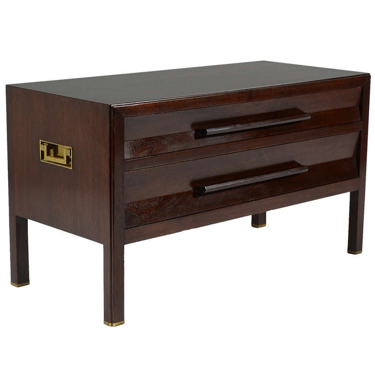 edward wormley low chest end table by dunbar at 1stdibs