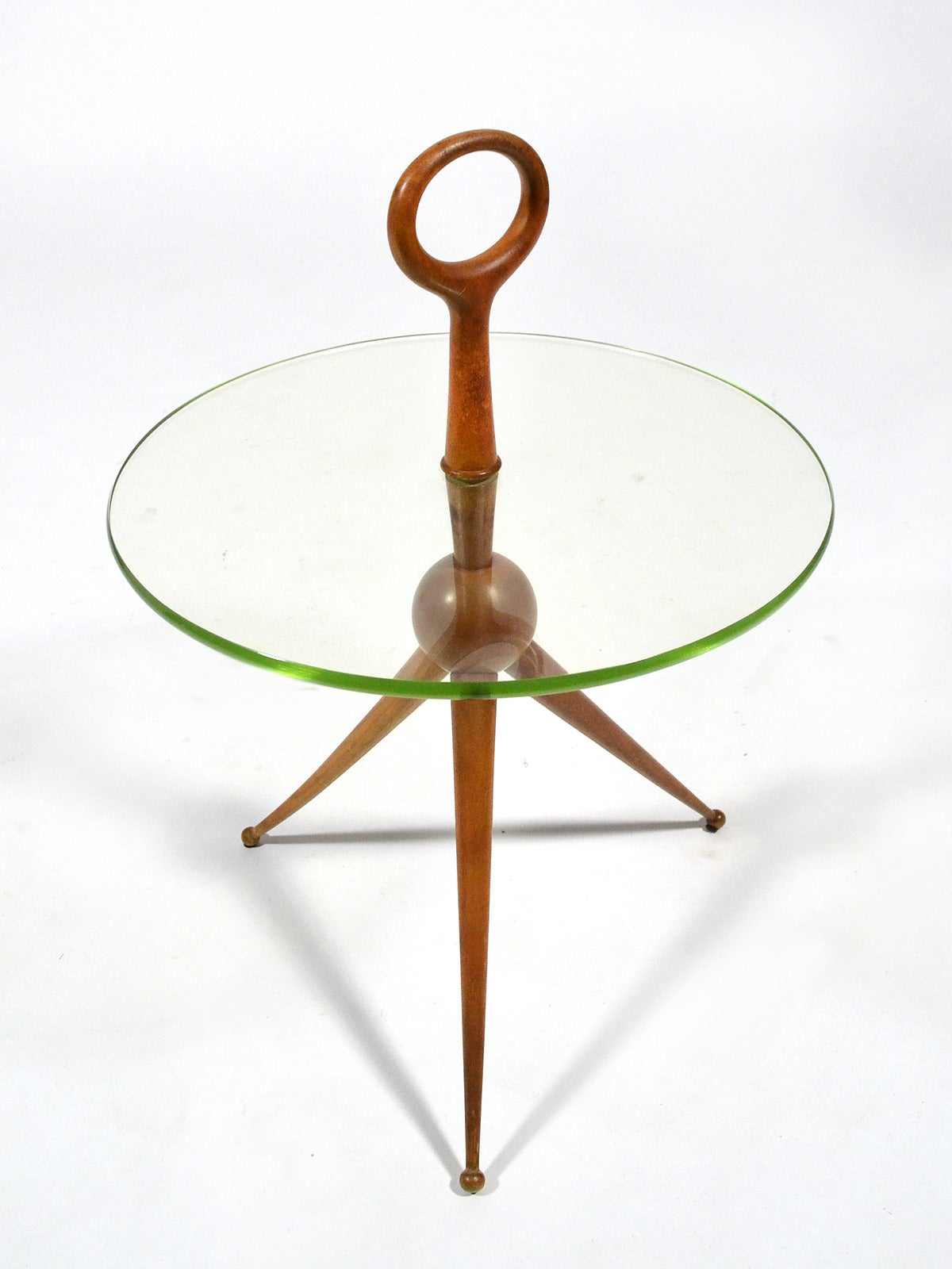 Italian Walnut and Glass Drinks Table 3