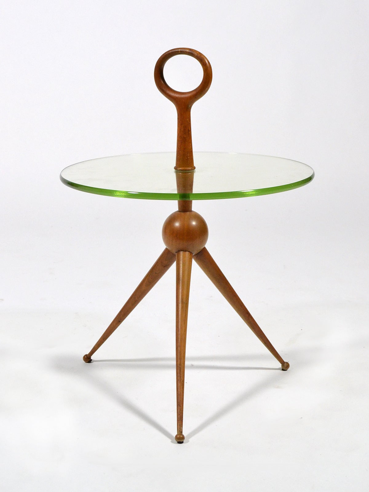 Italian Walnut and Glass Drinks Table 4