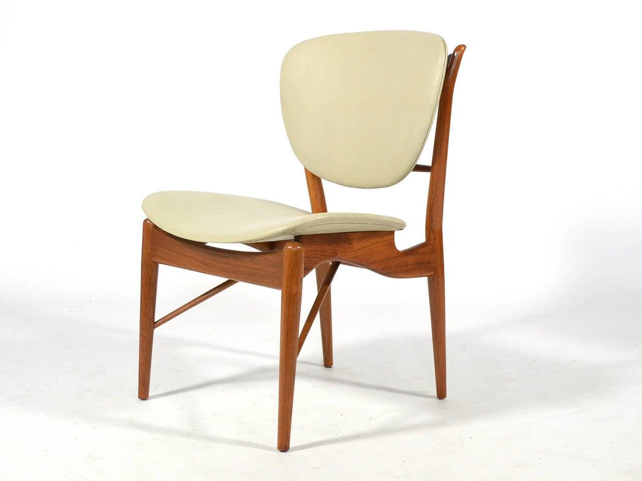 Naugahyde Finn Juhl Dining Table and Chairs For Sale