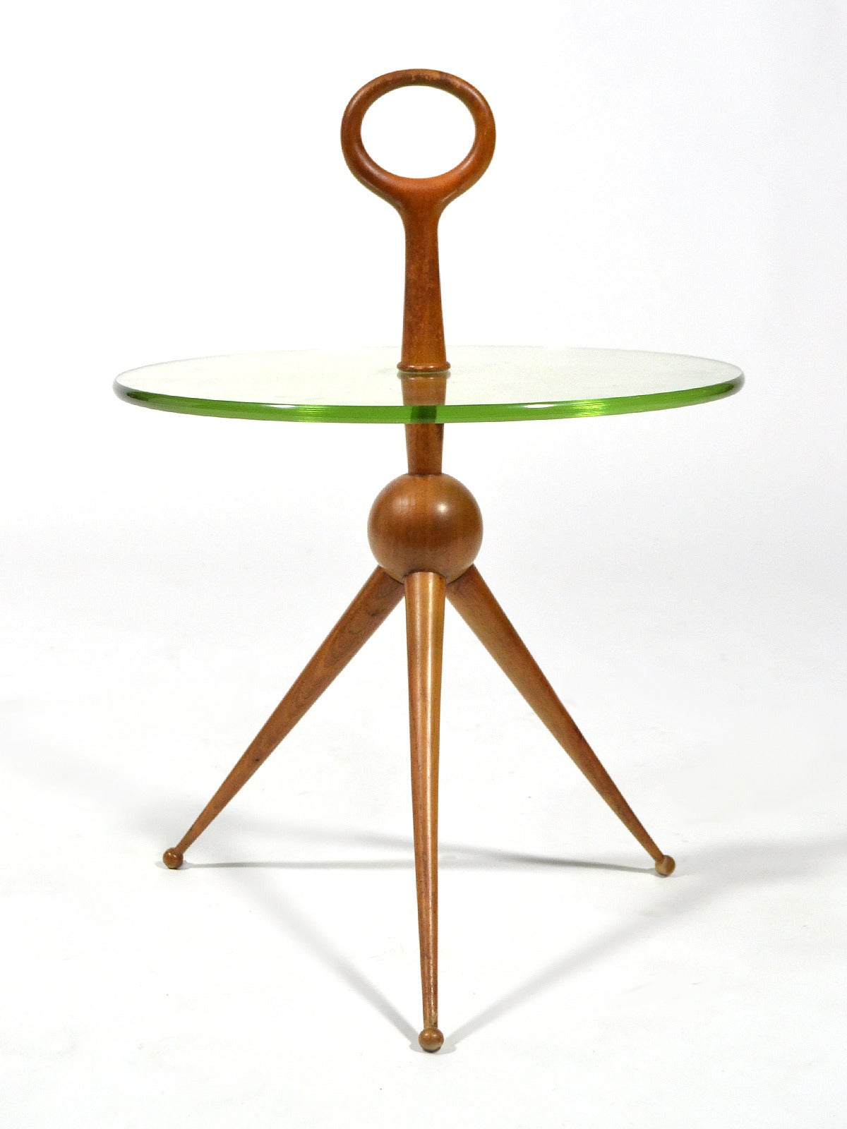 Italian Walnut and Glass Drinks Table 7