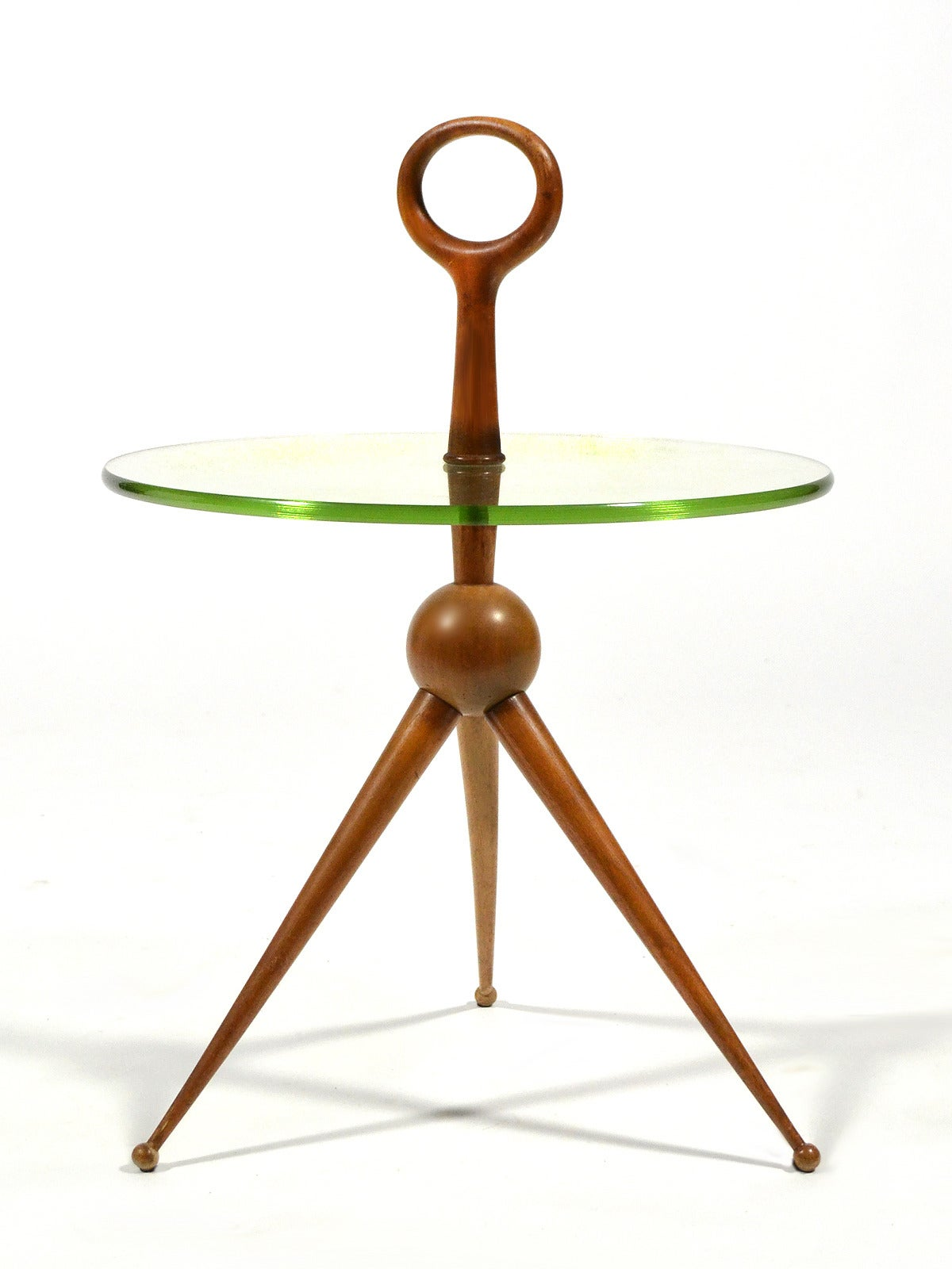 Italian Walnut and Glass Drinks Table 10