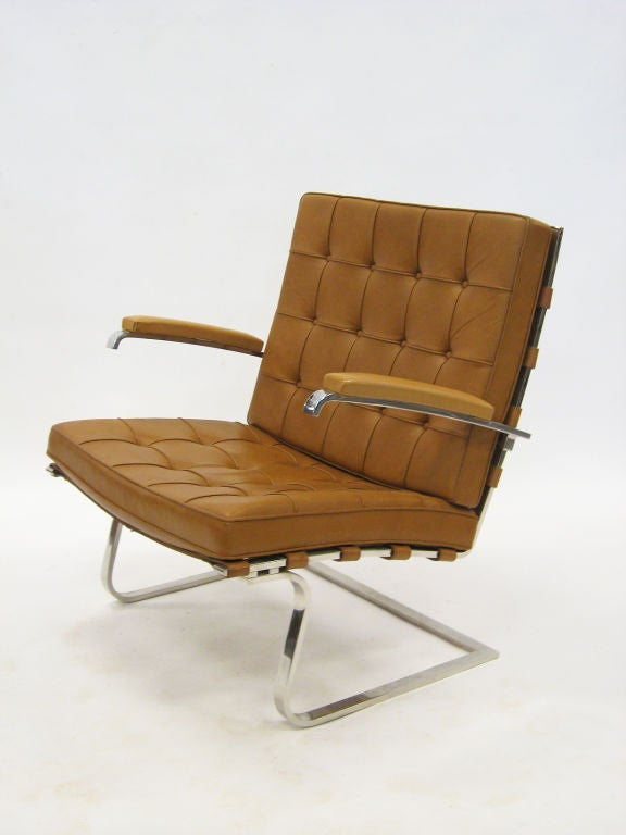 Ludwig Mies Van Der Rohe Tugendhat Lounge Chair By Knoll