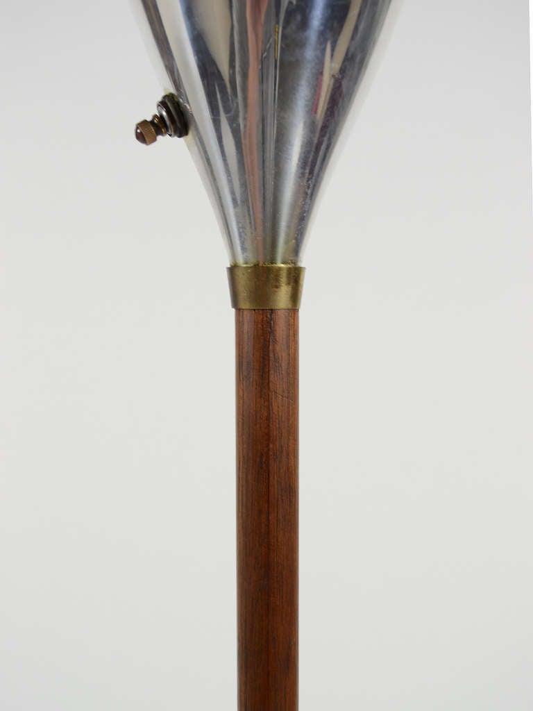 Laurel floor lamp with rosewood stem at 1stdibs for Floor lamp glass stem