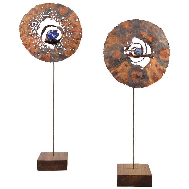 """Lunar Blooms"" Sculptures by James Bearden For Sale"