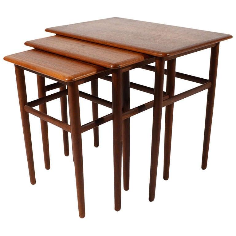 Set of Danish Teak Nesting Tables