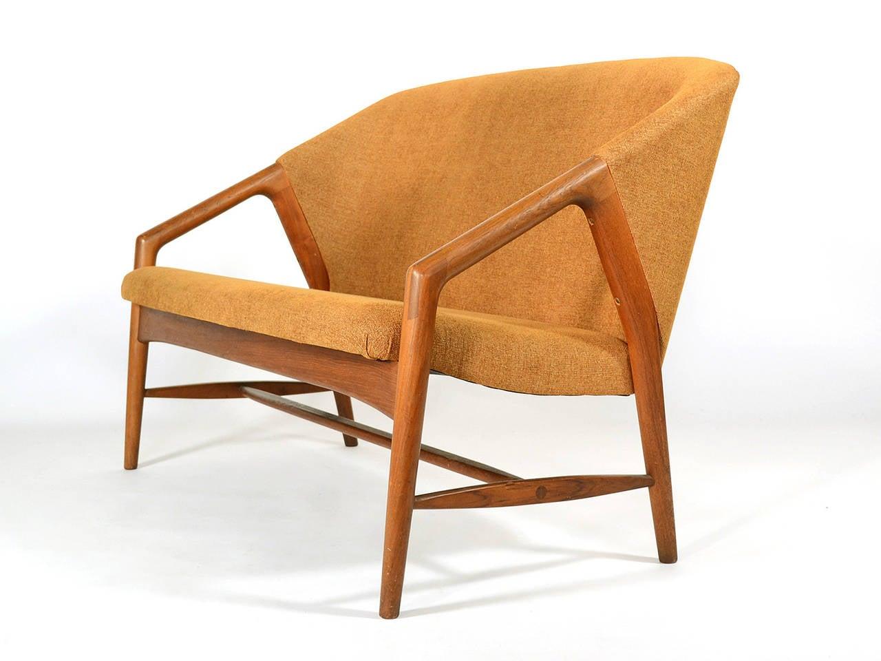 Rare Danish Teak Sofa Settee At 1stdibs