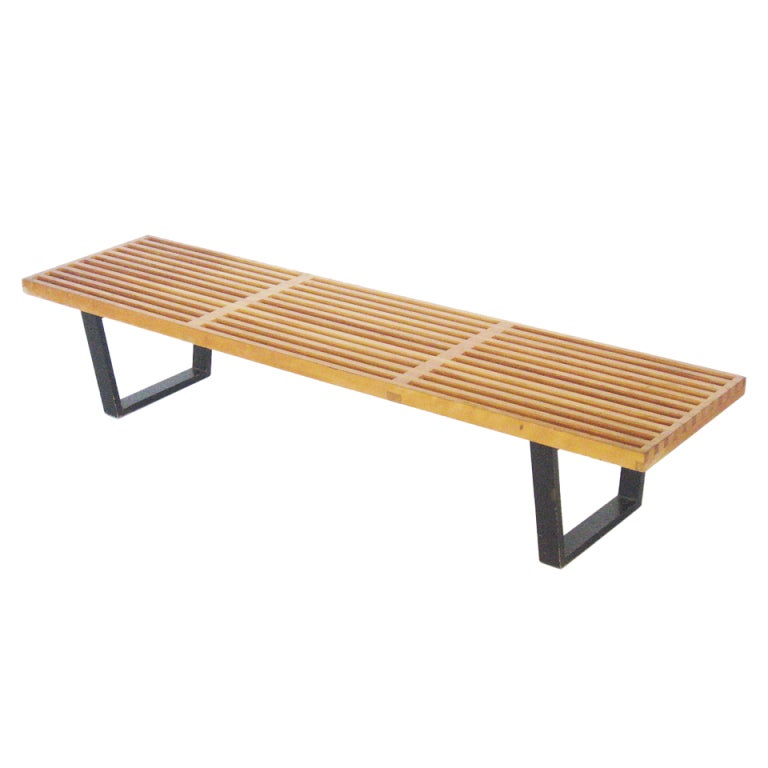 George Nelson Slat Platform Bench By Herman Miller At 1stdibs