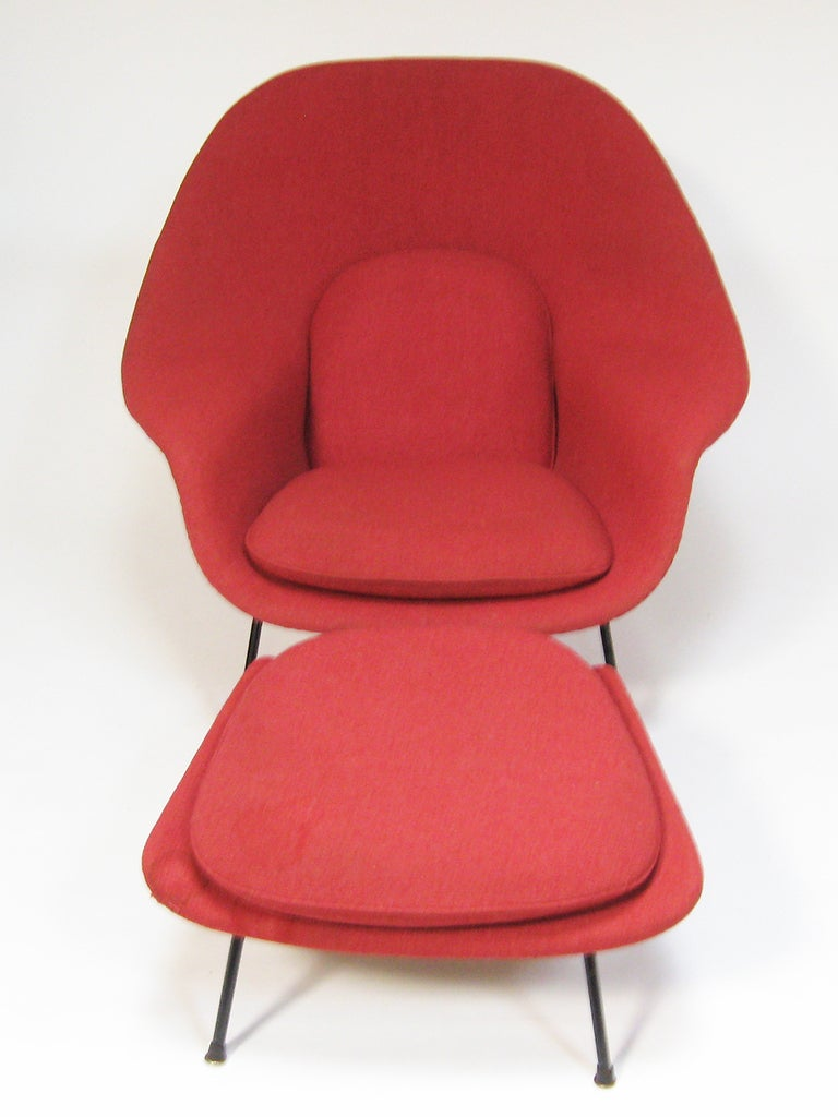 Knoll womb chair - Early Saarinen Womb Chair And Ottoman By Knoll 3