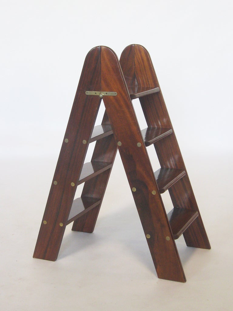 Folding Library Ladder By Smith And Watson At 1stdibs