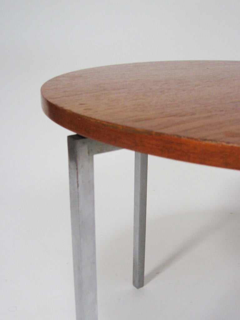 Steel Florence Knoll Side/ End Table by Knoll For Sale