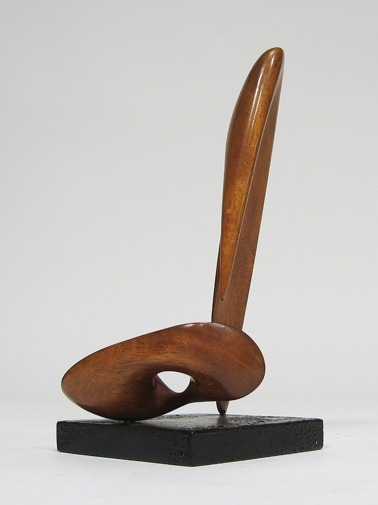 Modernist Abstract Wood Sculpture At 1stdibs