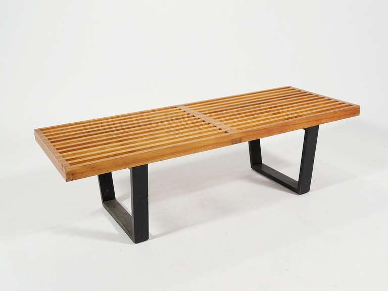 George Nelson Platform Slat Bench By Herman Miller At 1stdibs