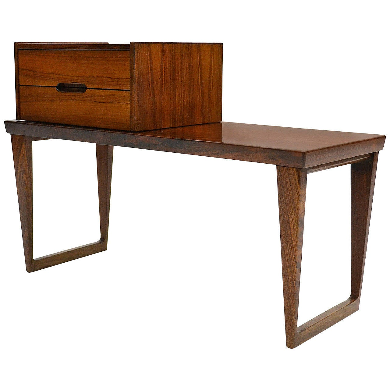 Kai Kristiansen Rosewood Bench And Storage Box At 1stdibs