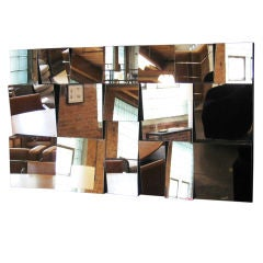 """Vintage Neal Small """"Slopes"""" faceted wall mirror"""