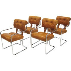 Set of four Tucroma chairs by Guido Faleschini for Pace