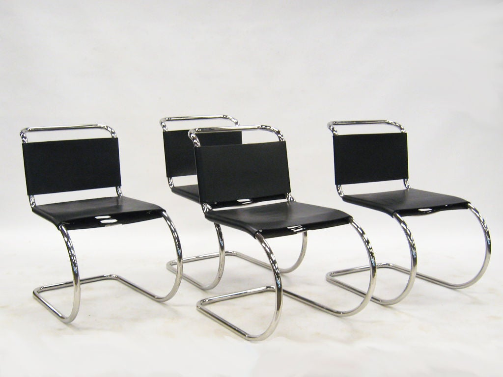ludwig mies van der rohe mr chairs by knoll at 1stdibs. Black Bedroom Furniture Sets. Home Design Ideas