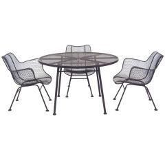 """Russell Woodard """"Sculptura"""" table & chair set"""