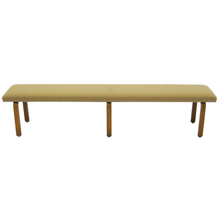 Long upholstered bench by thonet at 1stdibs Long upholstered bench