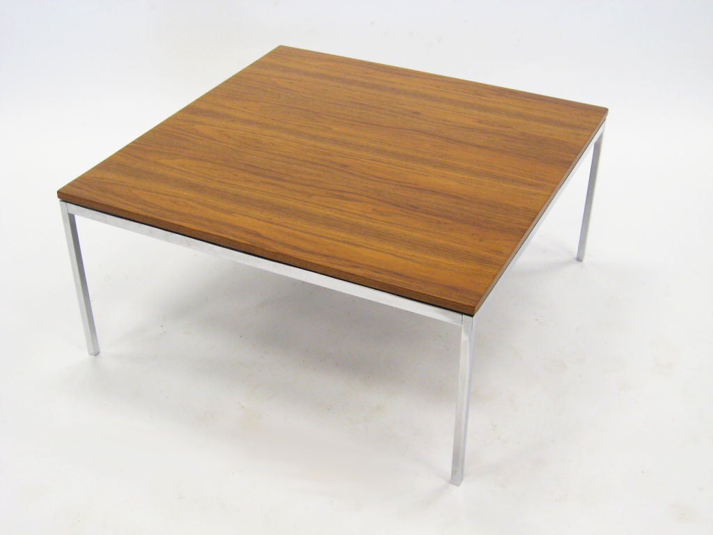 Florence Knoll Walnut Coffee End Table At 1stdibs