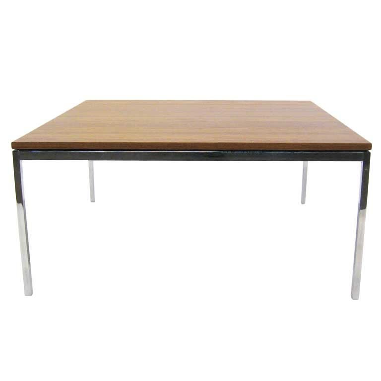 florence knoll walnut coffee end table at 1stdibs. Black Bedroom Furniture Sets. Home Design Ideas
