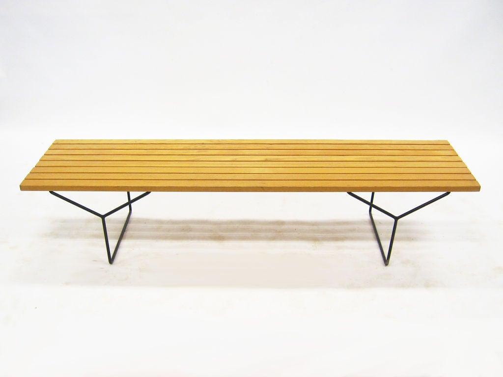 Bertoia slat bench by knoll at 1stdibs - Bertoia coffee table ...