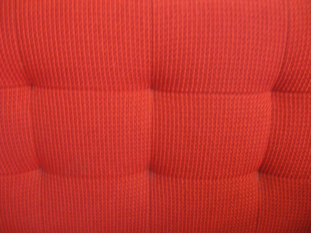 Early Florence Knoll 3 seat sofa in red Cato fabric 2