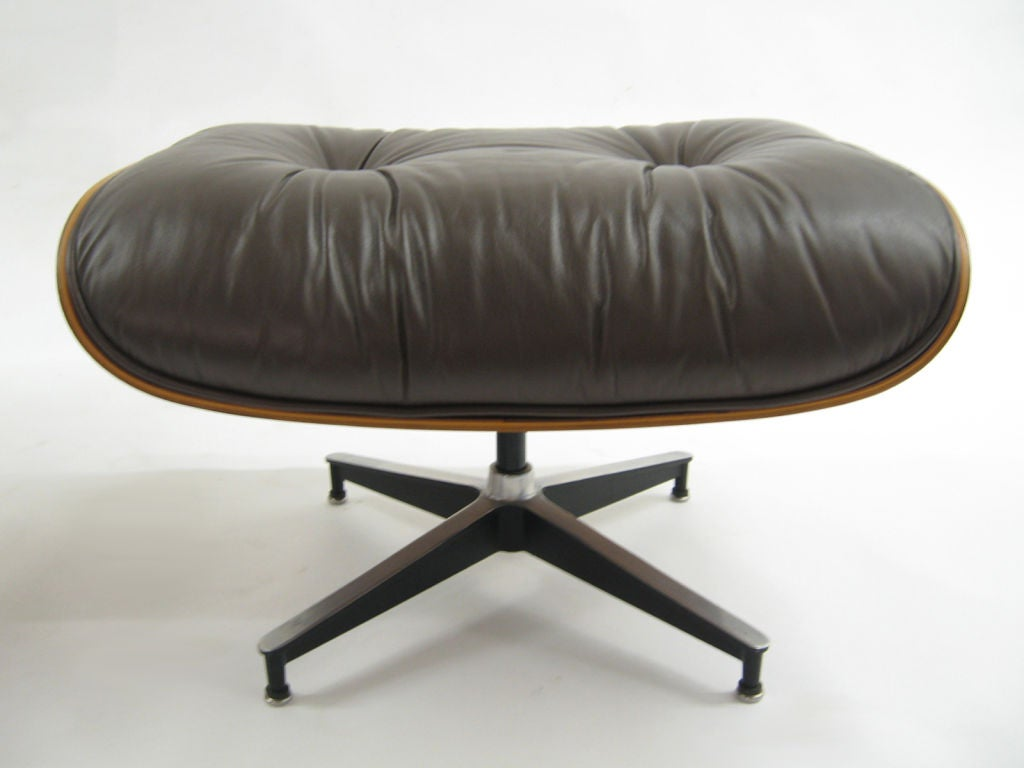 Eames rosewood & brown leather lounge & ottoman by Herman Miller 6