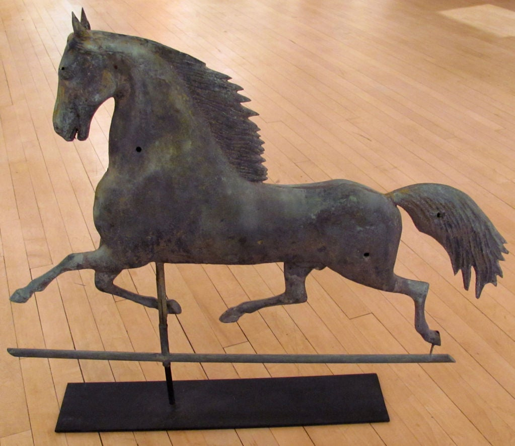 Large Sherman Blackhawk Weathervane | Possibly Harris & Co., MA image 3