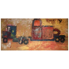 Purvis Young (1943-2010) | Untitled (Truck Hauling Locks)