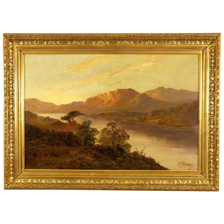 """""""Extensive River Landscape"""" by Francis E Jamieson"""