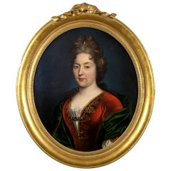 """Portrait of a Lady"" Attributed to Nicolas de Largilliere"