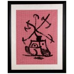 """Tractor"" by Joan Miro"