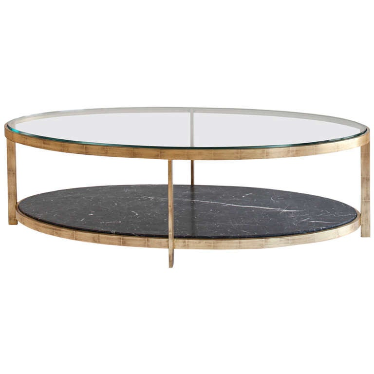 Renzo Elliptical Cocktail Table At 1stdibs