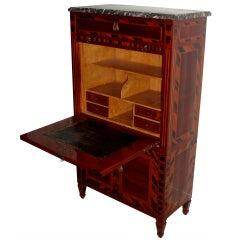 Polished Macassar Wood Louis XVI Secretaire Abattant