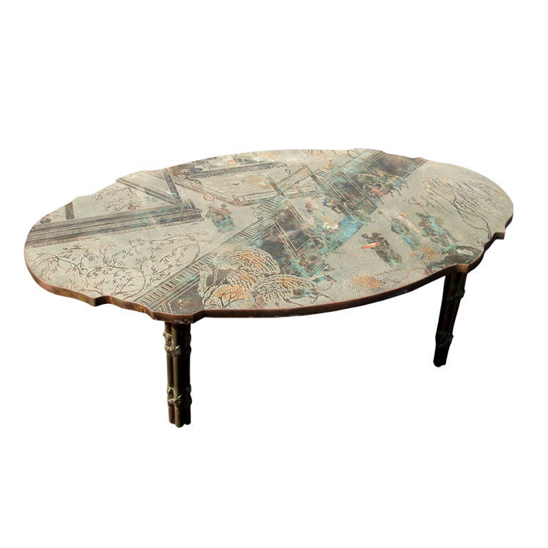Philip And Kelvin Laverne Chinoiserie Cocktail Table At 1stdibs
