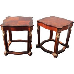 Pair of Empire Style Side Tables