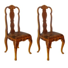 Pair of Japanned Side Chairs