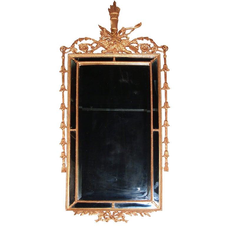 Louis XVI Style Pier Glass Framed Mirror