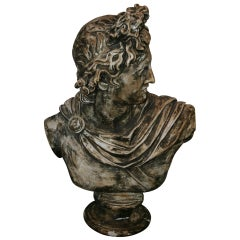 Large Plaster Bust of Apollo Belvedere