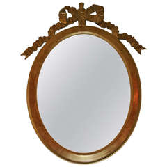 Lovely Oval Shaped Giltwood Framed Mirror