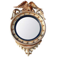 Handsome Regency Style Convex Mirror