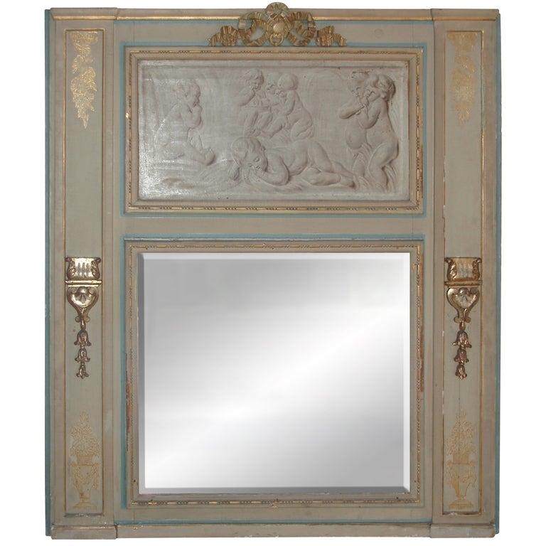 Fine Louis XVI Painted Trumeau