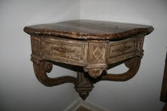 Large Louis XV Painted Wood Corner Console