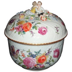 Rare Ludwigsburg Porcelain Lidded Tureen